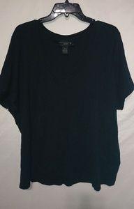 Venezia Basic Black V-neck T-shirt Sz 26/28 Plus